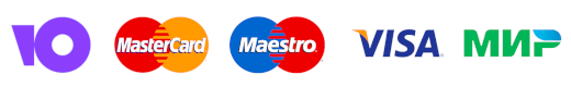 Юmoney VISA MasterCard Maestro МИР